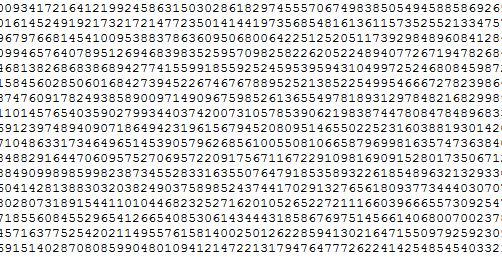 World Record Computation Of Pi